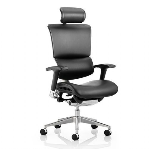 Ergo-Dynamic Leather Office Chair With Headrest